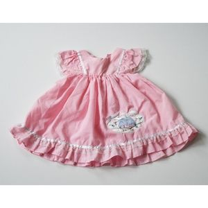 "Vintage Baby 12 Month ""Country Girl"" Dress Pink"